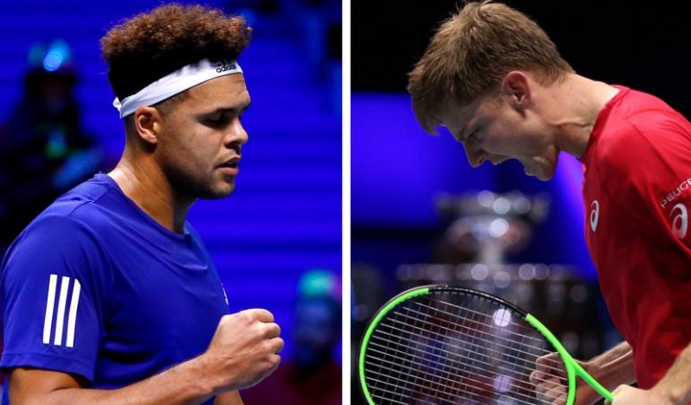 Goffin y Tsonga le dan los primeros puntos a sus países en la Copa Davis