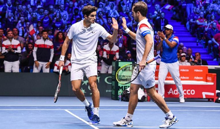 Francia se adelanta a Bélgica en la final de Copa Davis