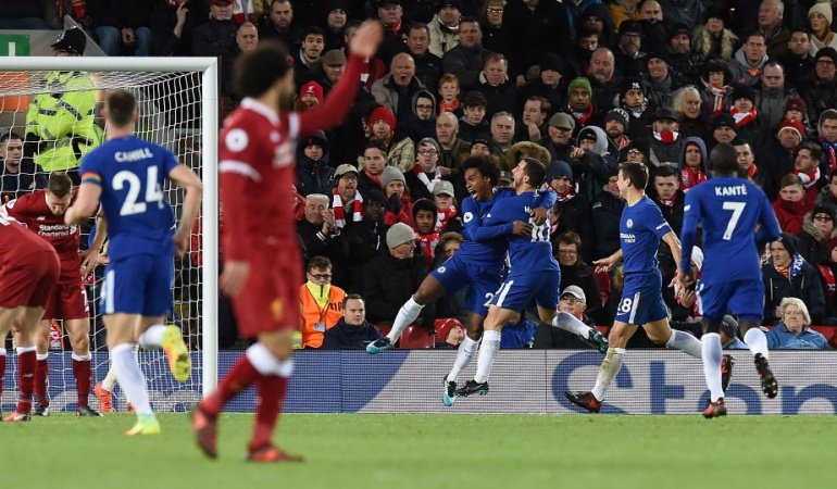 Willian Liverpool 1-1 Chelsea Liga Premier: Willian rescata un empate para el Chelsea en campo del Liverpool