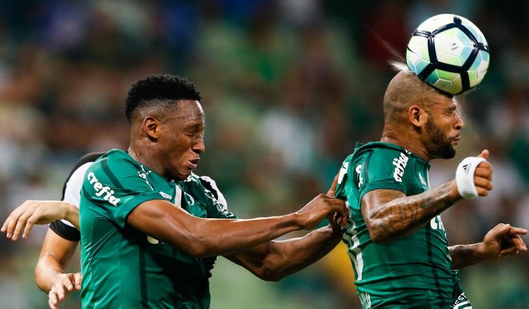 yerry mina Miguel borja: Con Mina y Borja, Palmeiras sube a la segunda plaza del Brasileirao