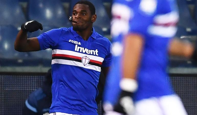 Duván Zapata anotó en la derrota de la Sampdoria ante la Lazio