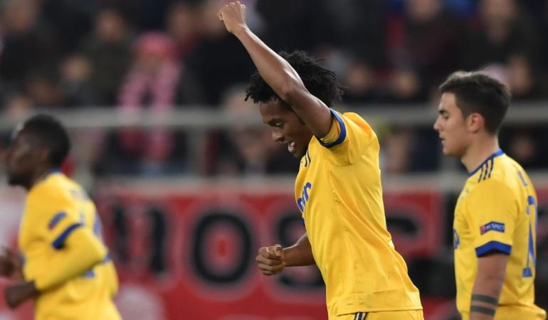 Juan Guillermo Cuadrado gol Liga de Campeones: Cuadrado marca en la victoria de la Juventus en Liga de Campeones