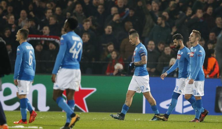 Napoli eliminado de Champions: Napoli cayó ante Feyenoord y no pudo avanzar a los octavos de Champions