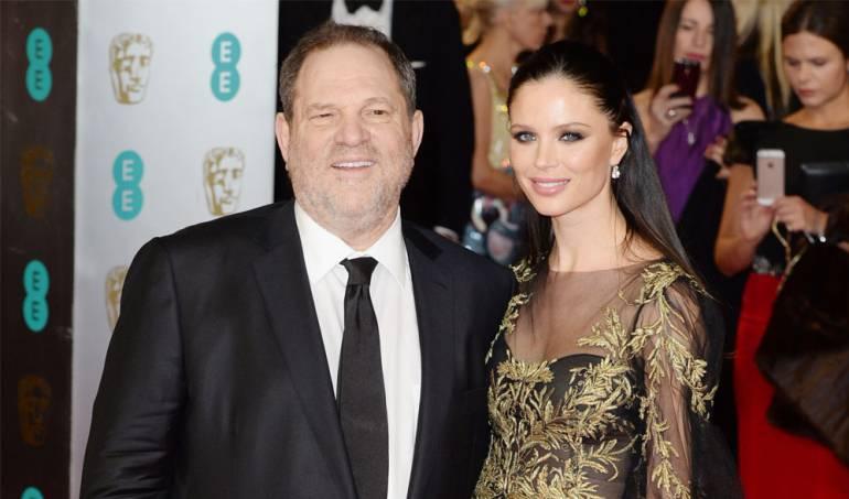 Georgina Chapman junto a Harvey Weinstein