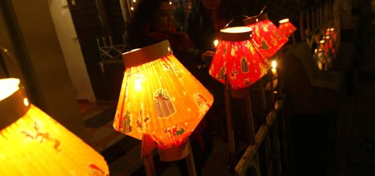 Noche de Velitas en Colombia: La 'Noche de las velitas' iluminó a Colombia