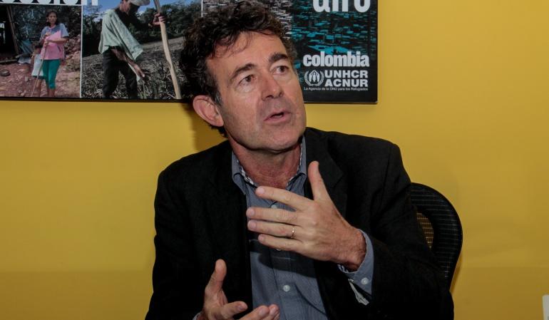 Josef Merks, representante de Acnur, Agencia de Naciones Unidas para los Refugiados.
