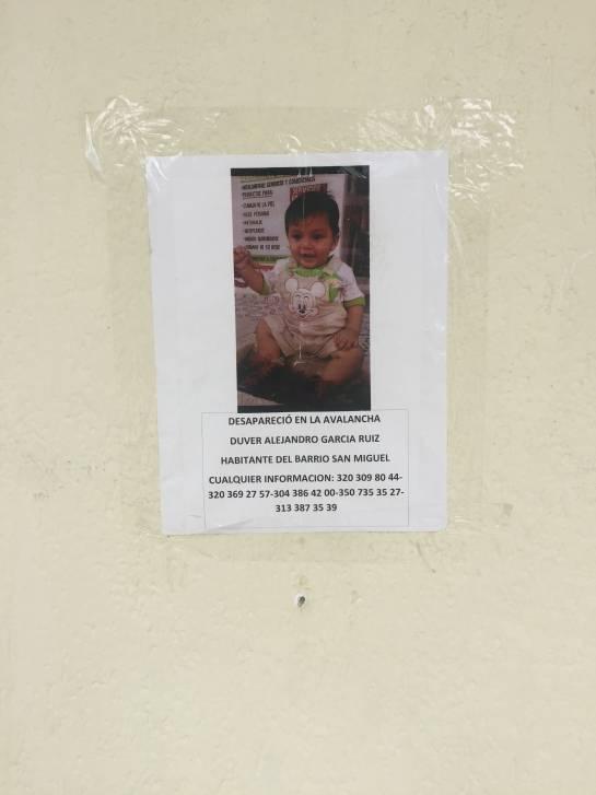 Los desaparecidos que siguen en las paredes de Mocoa