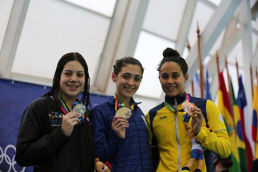 Maria Clara Román (derecha) | La mejor nadadora del Tolima. A pesar de su corta edad, 16 años, ya ganado varios títulos nacionales e internacionales. Este año ganó de todo. Y a pesar de la dificultad que con la falta de escenarios en Ibagué los deportistas no han parado su trabajo.