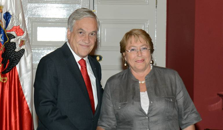 Presidenta de Chile felicita a Sebastian Piñera por su triunfo electoral: Michelle Bachelet felicitó a Sebastián Piñera