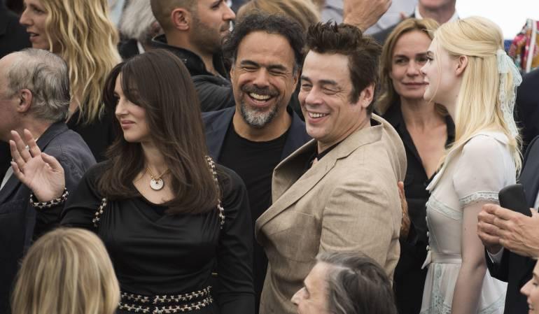 Monica Bellucci, Alejandro González Iñárritu, Benicio del Toro y Elle Fanning