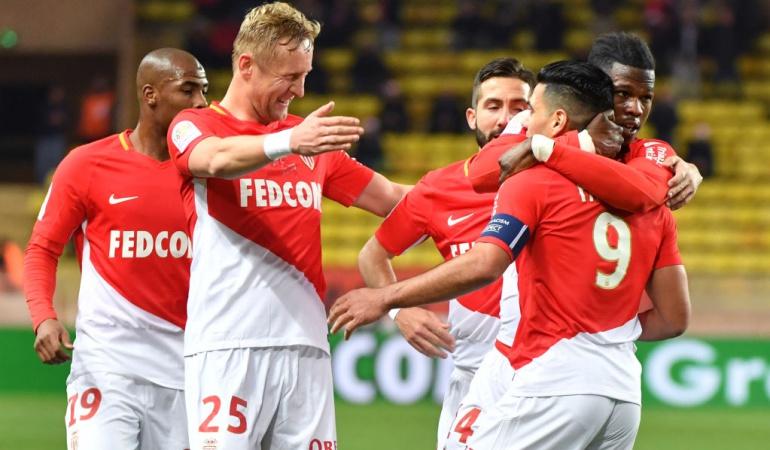 Falcao gol Mónaco 2-1 Rennes: Falcao cerró con gol el 2017