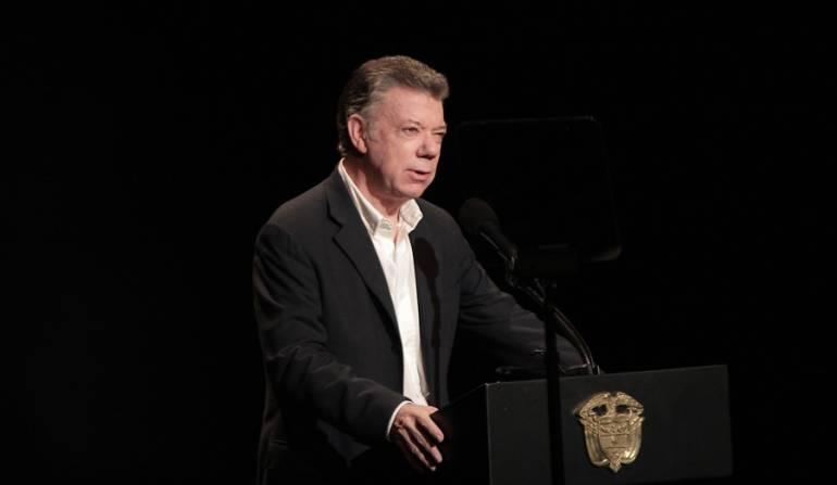 Santos llama a los colombianos a