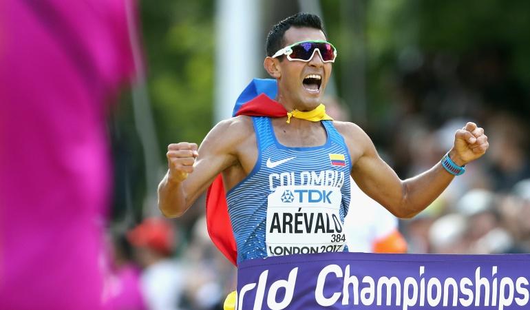 Éider Arévalo: Éider Arévalo, un marchista bañado en oro para Colombia