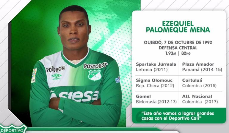Ezequiel Palomeque, nuevo jugador del Deportivo Cali