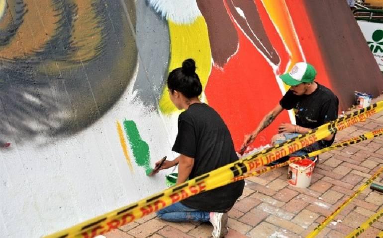 Noticias de Vilavicencio: Los grafiteros le pusieron una cara amable a Villavicencio