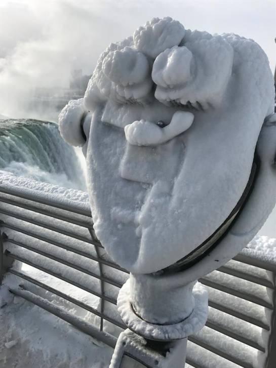 Las Cataratas del Niágara se congela: Las increíbles imágenes del congelamiento de las Cataratas del Niagara