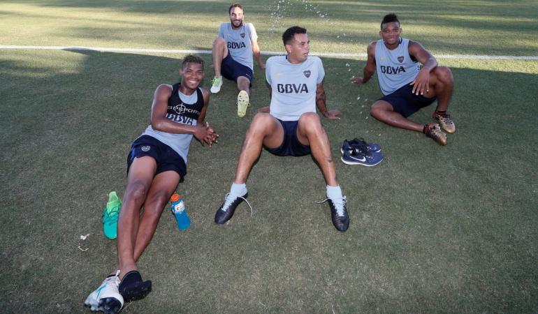 """Futbolistas colombianos Boca Juniors: """"Como si estuvieran en casa"""": Boca Juniors destaca a sus talentos colombianos"""