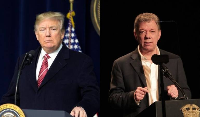 Donald Trump cuestionó a Juan Manuel Santos por la lucha contra las drogas en Colombia