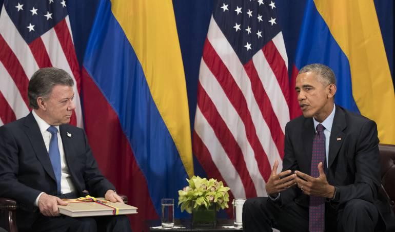 Santos y Obama: Santos y Obama podrían trabajar juntos en temas de paz después de finalizar su presidencia