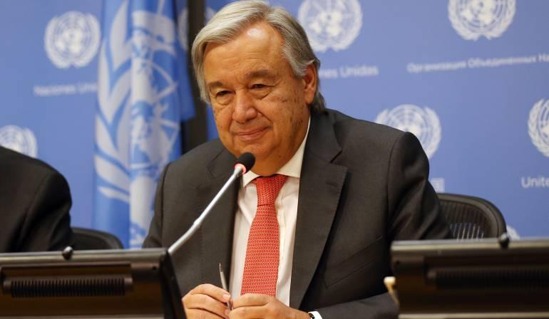 Secretario general de las Naciones Unidas: Secretario general de las Naciones Unidas estará en Colombia el fin de semana
