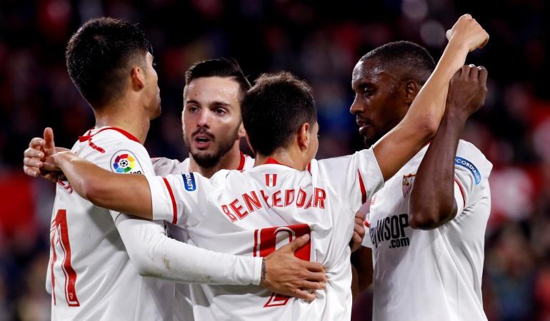 Futbolistas colombianos Muriel: El Sevilla, de Luis Fernando Muriel, se clasificó a cuartos de final de Copa del Rey