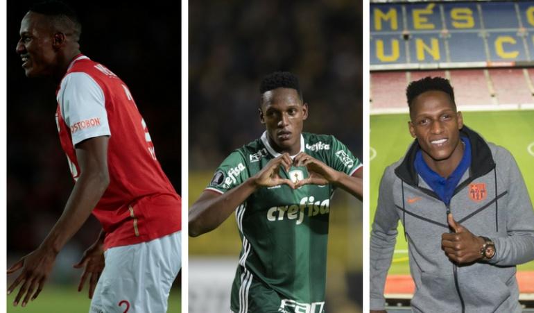 Yerry Mina Barcelona Palmeiras Santa Fe: No se pierda los mejores datos de la carrera de 'Guachené' Mina