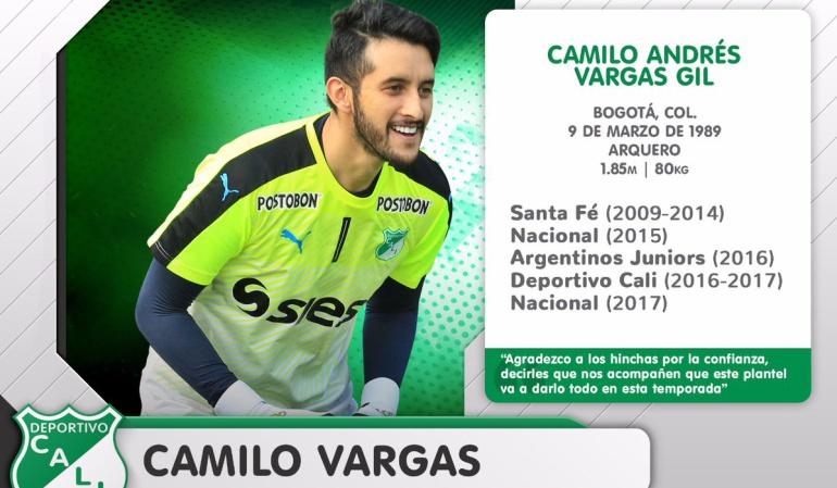 Camilo Vargas: Deportivo Cali oficializó la llegada de Camilo Vargas