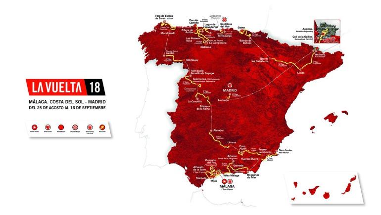 Vuelta a España 2018: Listo el recorrido de la Vuelta a España 2018