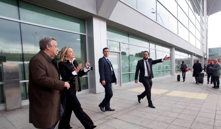 Visita de secretario de la ONU a Colombia, Reunión con Santos: La expectativa por los efectos de la visita del Secretario de la ONU es alta