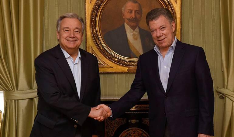 """Compromisos de la ONU con el proceso de paz: """"Nuestro compromiso con la paz de Colombia es total"""": Secretario de la ONU"""