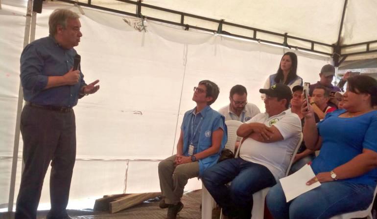 Guterres Colombia: Presencia del Estado en todo el territorio es fundamental para la paz: ONU