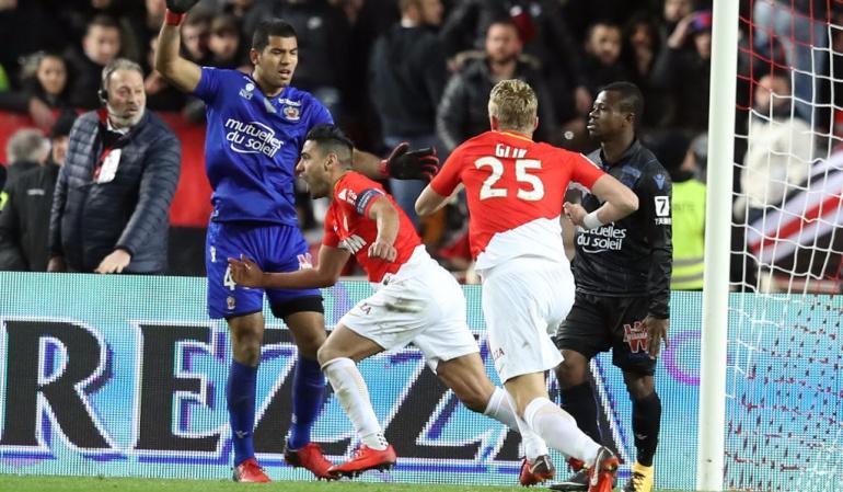 Falcao gol Mónaco: Falcao volvió a las canchas con gol y salvando un punto para el Mónaco