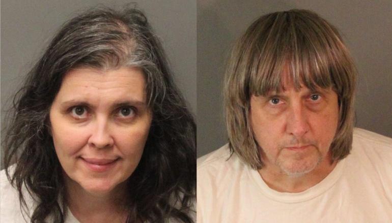 Louise Anna Turpin y David Allen Turpin luego de su arresto en Perris (California, EE.UU.). donde enfrentan cargos de tortura y de poner en riesgo a 13 niños cautivos en su casa.