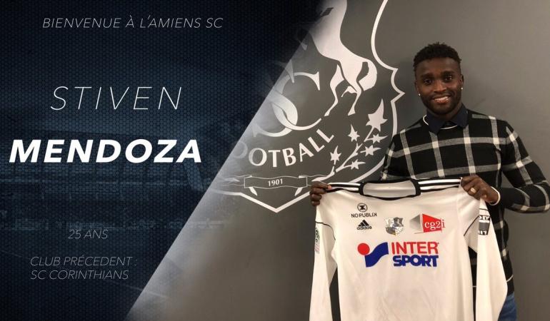Stiven Mendoza Amiens: Stiven Mendoza es nuevo jugador del Amiens francés