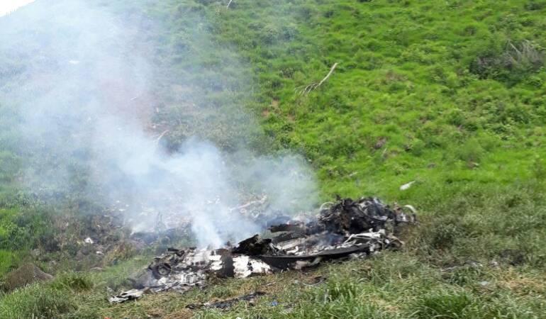 Accidente de helicóptero en Antioquia sería por mal clima, según Ejército