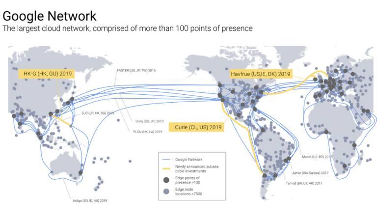 Google construirá un cable submarino en Latinoamérica