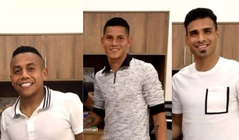 vladimir Hernandez jorman campuzano y fernando monetti: Vladimir, Campuzano y Monetti firmaron como nuevos jugadores de Nacional
