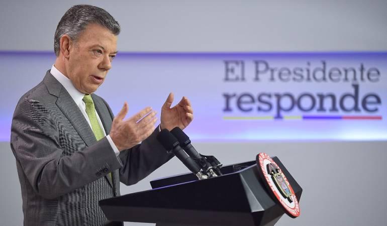 proceso de paz en este momento es irreversible: Santos: Proceso de paz es irreversible sin importar quien resulte electo