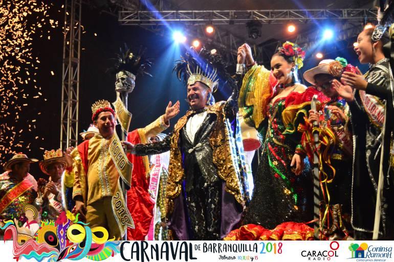 Las danzas engalanaron la coronación del Rey Momo 2018