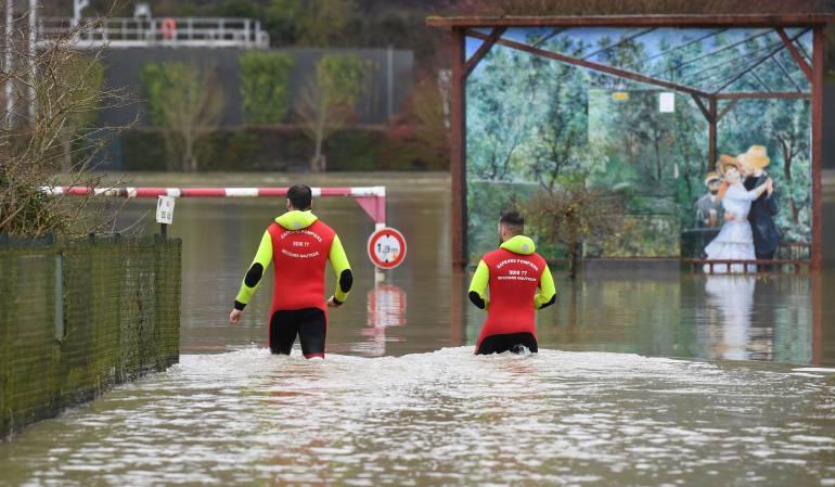 Sectores de París inundados por crecida del río Sena