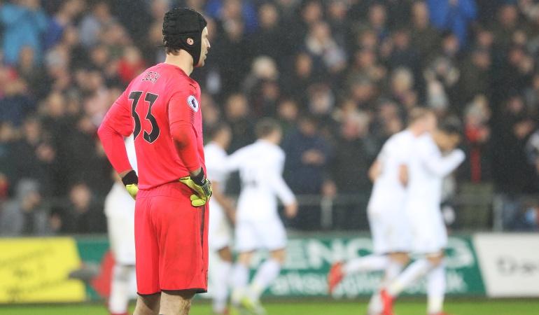 Arsenal sin Ospina cae 3-1 ante el Swansea