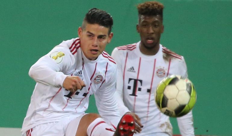 copa de alamenia james bayern: Con James, Bayern avanza a la semifinal de la Copa alemana