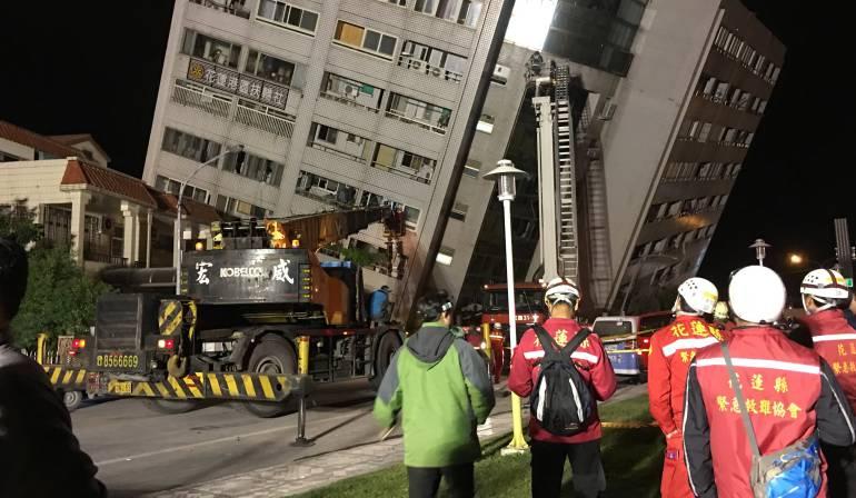 Terremoto en Asia: Al menos dos muertos y 150 heridos por terremoto de magnitud 6,4 en Taiwán