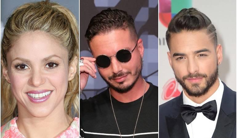 Shakira, J Balvin y Maluma