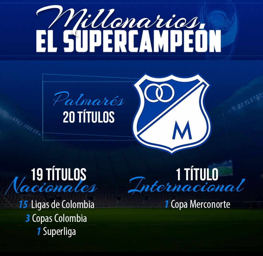 superliga millonarios campeón: Supercampeón: Millonarios llegó a 20 títulos