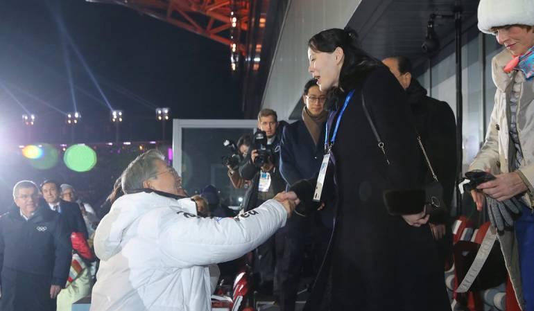 ¡Histórico! Saludo de presidente de Corea del Sur y hermana de Kim Jong-un