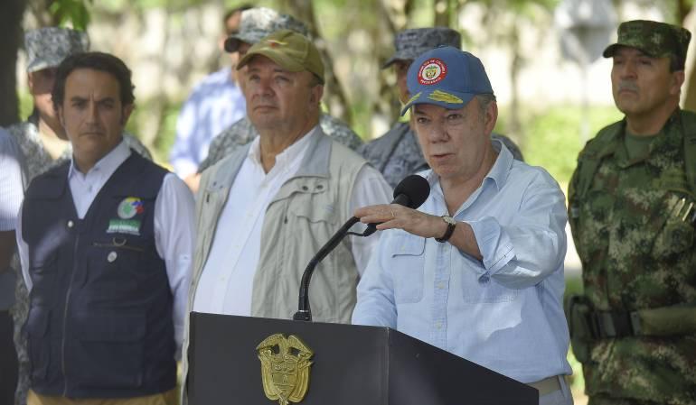 Diálogos de paz con el Eln: Reanudar diálogos con el Eln va a ser muy difícil: Santos