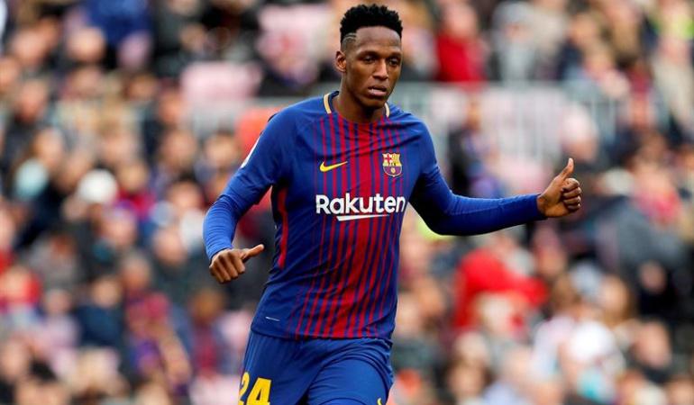 Yerry Mina titular Barcelona Getafe: Yerry Mina debutó como titular con el Barcelona en el empate ante Getafe