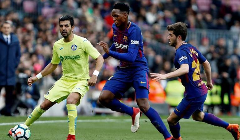 Yerry Mina Ernesto Valverde FC Barcelona: Estoy contento con Mina y Digne, era una papeleta difícil: Valverde