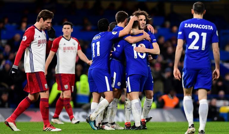 Chelsea West Bromwich: Con doblete de Hazard, Chelsea venció 3-0 al West Bromwich